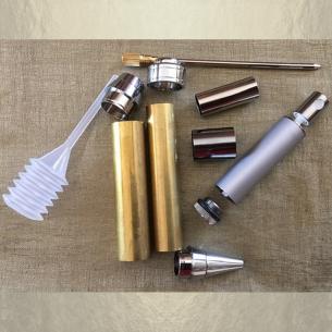 Stylo CRISTAL DE SWAROVSKI FUCHSIA AB, stylo bille avec vaporisateur de parfum duo chrome artisanal  - 6
