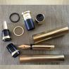 Stylo CRISTAL DE SWAROVSKI , stylo  plume plaqué or fabrication artisanale à la main vert d'eau doré