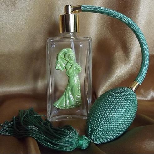 vaporisateur de parfum en verre vide et rechargeable décoration artisanale camée en porcelaine froide Artisanal porcelaine fr...