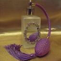Vaporisateur de parfum atomiser poire en verre rectangle givré décoration artisanale miroir
