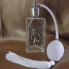 Vaporisateur de parfum poire blanche, décoration estampe artisanale
