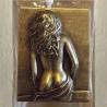 Vaporisateur de parfum poire en verre carré 100 ml décoration artisanale estampe femme bronze