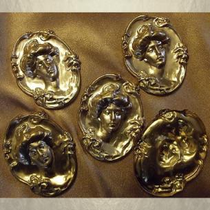 Vaporisateur de parfum poire en verre 100 ml décoration artisanale estampe visage bronze Vaporisateurs de parfum