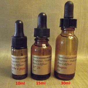 FRAGRANCES, HUILES AROMATIQUES  pour diffuseur de parfum voiture 10 ml, 15 ml, 30 ml  - 1