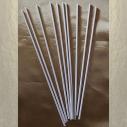 Bâtons pour diffuseurs par capillarité en fibres de coton naturel enrobées blancs x 10