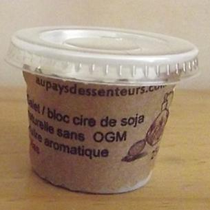 Galet cire de soja VEGAN, fondants  pour diffuseur de parfum, brûle parfum bloc de 25 g  - 1