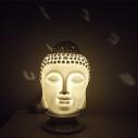 Lampe diffuseur de parfum électrique pour galets cire en céramique bouddha blanche