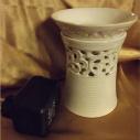 Diffuseur électrique pour galets cire / tartelettes en cire / pastilles en cire en céramique dentelle
