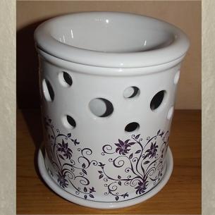 Diffuseur céramique pour galets cire / tartelettes en cire / pastilles en cire, frise  - 1