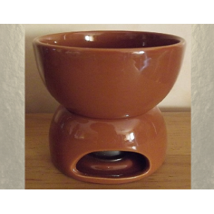 Diffuseur céramique pour galets cire / tartelettes en cire / pastilles en cire, couleurchocolat  - 1