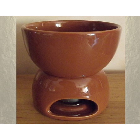 Diffuseur céramique pour galets cire / tartelettes en cire / pastilles en cire, couleurchocolat
