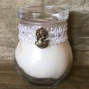 Bougie victorienne camé dentelle cire naturelle de soja parfumée personnalisée à la commande