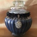 Bougie victorienne porte photo noire cire naturelle de soja parfumée