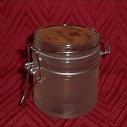 Bougie gel artisanale dans pot en verre avec couvercle