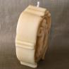 Bougie sculpture artisanale décorative cire naturelle de soja camé dame. Personnalisable