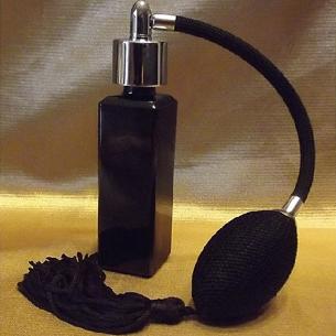 Vaporisateur de parfum poire longue noire verre noir vide et rechargeable Vaporisateurs de parfum - Au pays des senteurs