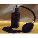 Vaporisateur de parfum poire longue noire verre noir vide et rechargeable  - 1