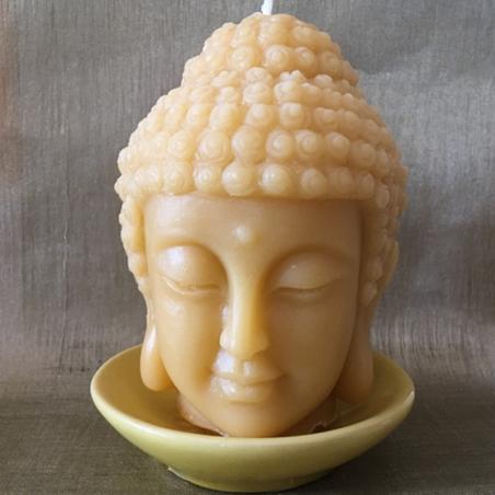 Bougie bouddha 10 cm sculpture décorative artisanale cire naturelle de soja. Personnalisable
