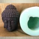 Bougie bouddha noire 10 cm sculpture décorative artisanale cire naturelle de soja. Personnalisable