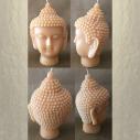 Bougie bouddha 14 cm sculpture décorative artisanale cire naturelle de soja. Personnalisable