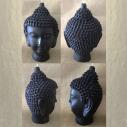 Bougie bouddha noir 14 cm sculpture décorative artisanale cire naturelle de soja. Personnalisable