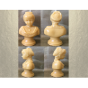 Bougie sculpture décorative artisanale cire naturelle de soja. Modèle buste. Personnalisable