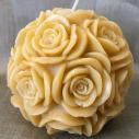 Bougie sculpture décorative artisanale cire naturelle de soja. Modèle boule 10 cm. Personnalisable