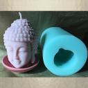Bougie Bouddha artisanale décorative sculpture cire naturelle de soja parfumée avec moule bouddha