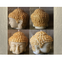 Bougie bouddha 10 cm sculpture décorative artisanale cire naturelle de soja sans parfum