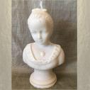 Bougie artisanale décorative sculpture cire naturelle de soja modèle buste aspect pierre 16 cm