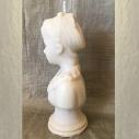 Bougie décorative sculpture cire naturelle de soja modèle buste parfum amande  frangipane artisanale profil 1