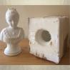 Bougie artisanale décorative sculpture cire naturelle de soja modèle buste aspect pierre 16 cm avec moule
