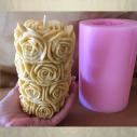 Bougie pilier sculpture artisanale décorative cire naturelle de soja modèle pilier de rose avec moule