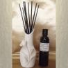 Diffuseur bâtons par capillarité vase soliflore en céramique Arum, bâtons noirs et parfum sans alcool