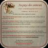 Diffuseur par capillarité bâtons en coton vase rose et frise or, parfum sans alcool