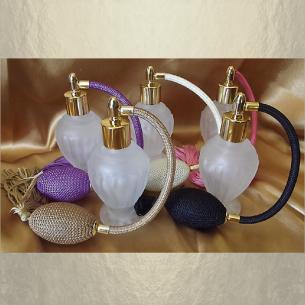 Vaporisateur de parfum poire boule sur pied givré 50 ml, 10 couleurs disponibles