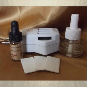 Double diffuseur de parfum prise électrique plaquettes / patchs + liquide parfum d'ambiance prise rotative