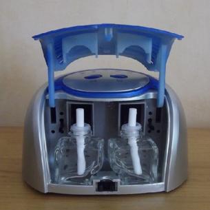 Diffuseur ioniseur purificateur d'air double parfum automatique pour huiles aromatique ou huiles essentielles ouvert