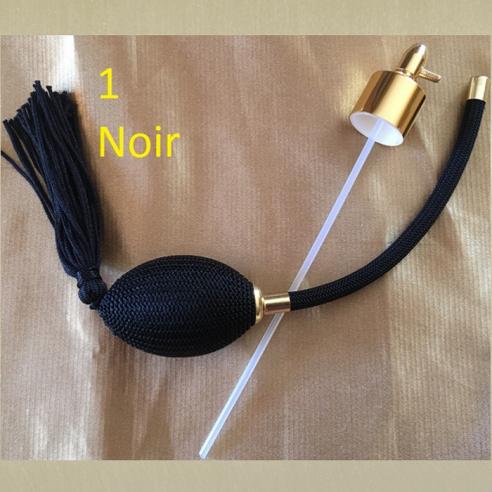 Poires de rechange pour vaporisateurs de parfum + atomiseur de parfum couleur noire
