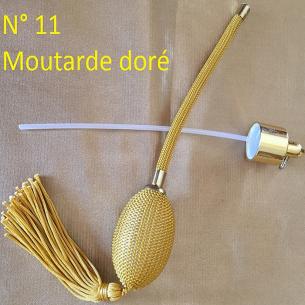 Poires de rechange pour vaporisateurs de parfum + atomiseur de parfum couleur moutarde doré