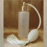 Vaporisateur de parfum poire ivoire, blanc cassé verre givré vide et rechargeable rond 130ml
