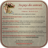 Collier fiole à parfum bois et or strass CRISTAL DE SWAROVSKI FUCHSIA AB artisanal