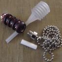 Collier fiole à parfum bois et  argent strass CRISTAL DE SWAROVSKI HYACINTH AB ouverte