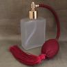 Vaporisateur de parfum poire bordeaux verre carré givré 60 ml
