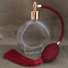 Vaporisateur de parfum poire bordeaux rond plat 120 ml vide et rechargeable