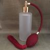 Vaporisateur de parfum poire bordeaux verre givré tube rond 130 ml vide et rechargeable