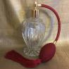 Vaporisateur de parfum poire bordeaux boule sur pied 110 ml vide et rechargeable