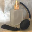 Vaporisateur de parfum poire noire verre carré givré 60 ml