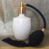 Vaporisateur de parfum poire noire verre blanc 125 ml vide et rechargeable