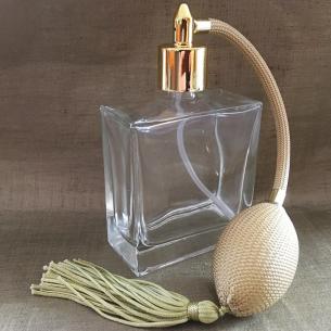Vaporisateur de parfum poire vide et rechargeable carré 100 ml Vaporisateurs de parfum